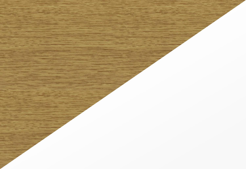 Golden Oak on White