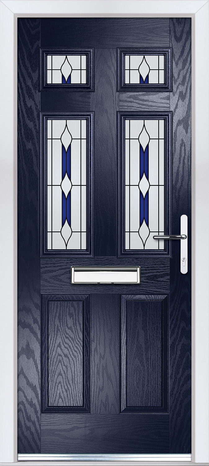 Edwardian 4 in Blue with Barcelona Glass