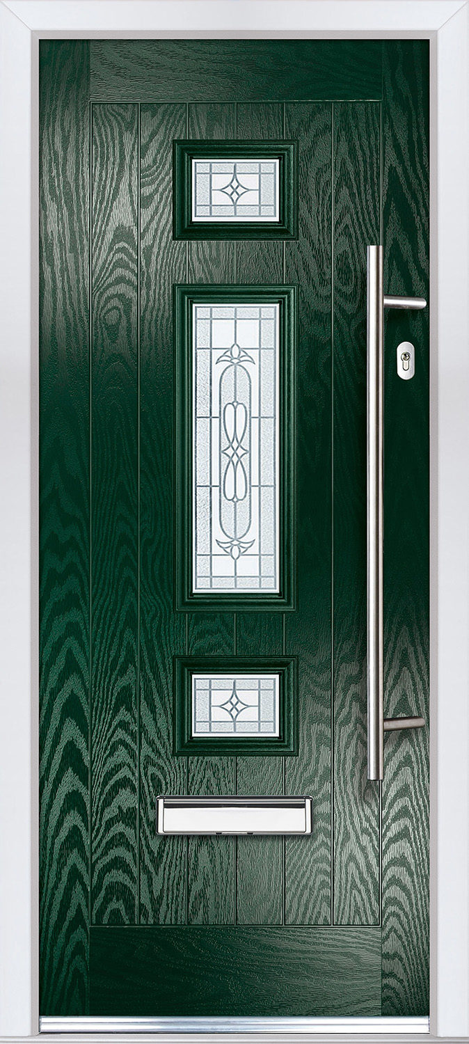 Jacobean in Green with Slvaner Glass