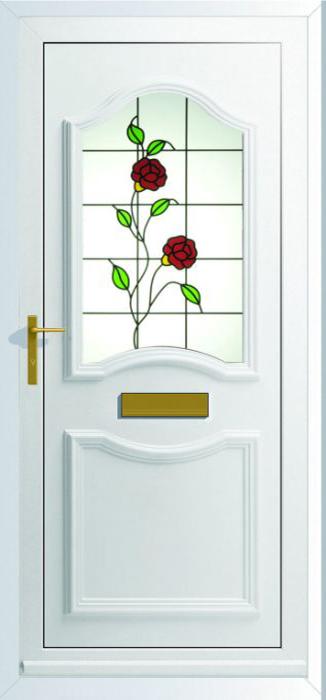 Lisbon 1 with Rose Design Glass