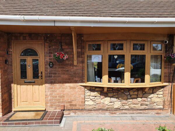Irish Oak bay window and composite door - Pelsall